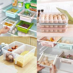 Kitchen Freezer Fridge Slide Storage Box Space Saver Organiz