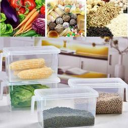 Kitchen Refrigerator Food Case Fruit Storage Container Clear