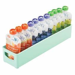 mDesign Kitchen Storage Organizer Bin for Kids Supplies
