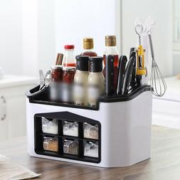 Kitchen Storage Rack Organizer Shelf Spice Home Seasoning Bo