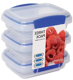 Sistema Klip It 3 by 6.7-Ounce Containers, 3-Pack, Clear , N
