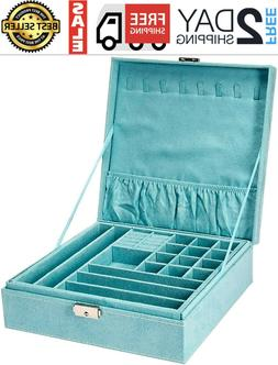 KLOUD City Two-Layer lint Jewelry Box Organizer Display Stor