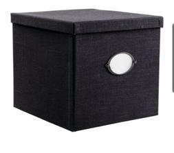 Ikea kvarnvik Decorative Woven Lined Storage Box Black