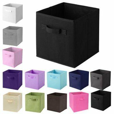 1-6PCS Simple Storage Box Bag Non-Woven Fabric Folding Case