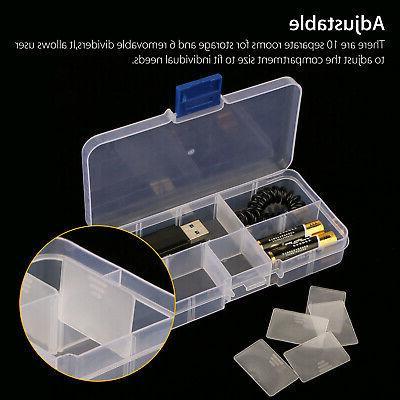 10 Clear Storage Box Screw Organizer