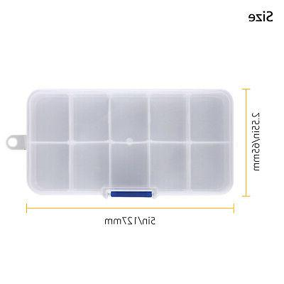 10 Plastic Storage Box Screw Container