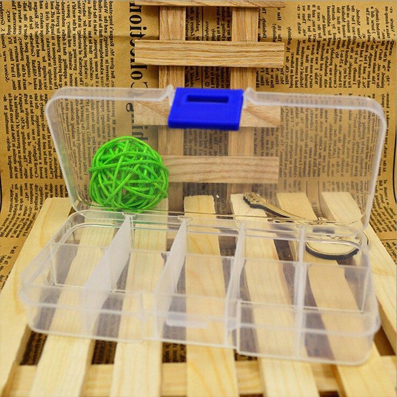 10 Grids Transparent Organizer Jewel Bead Case <font><b>Box</b></font> Pill
