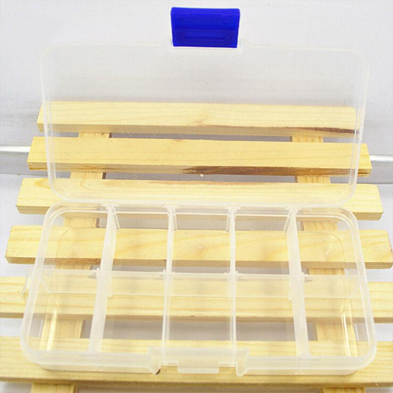 10 Grids Compartments Transparent Jewel Case <font><b>Box</b></font>