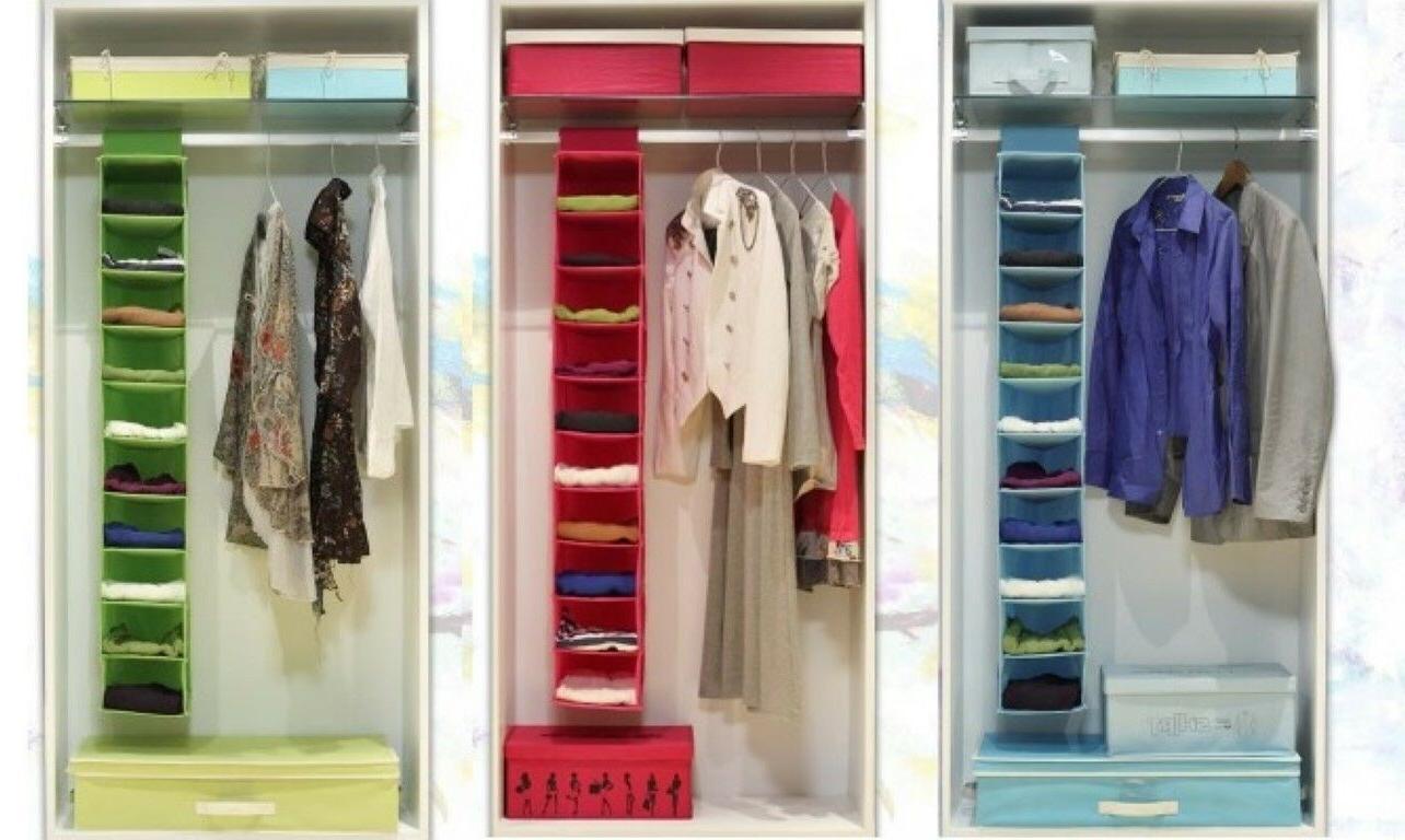 10 racks shelf hanging wardrobe storage organizer