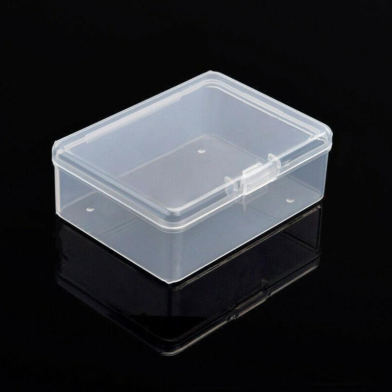 10pcs clear storage box small plastic jewelry