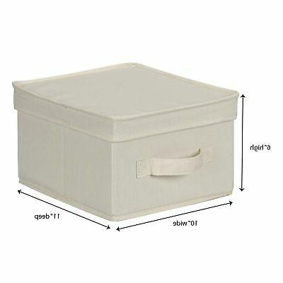 Household 111 Box with Handle - Beige Canvas