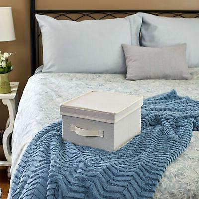 Household Essentials 111 Storage Box Handle - Natural Beige Canvas