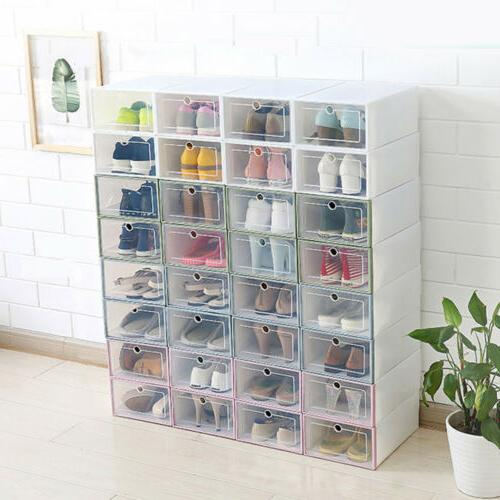 12/24pcs Foldable Shoe Organizer