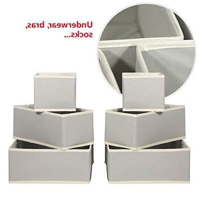 12 Storage Box Closet Dresser Drawer Organizer Bas...