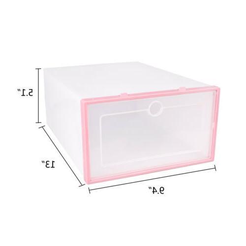 12Pcs Foldable Storage Plastic Transparent Case Stackable