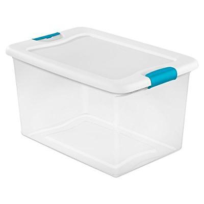Sterilite 14978006 64 quart/61 L Latching Box 6 Pack