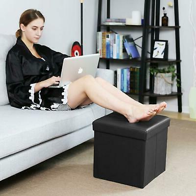 "15"" Storage Folding Box Seat Bench Foot Rest"