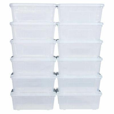156quart 144liter 12 pack latch stack storage