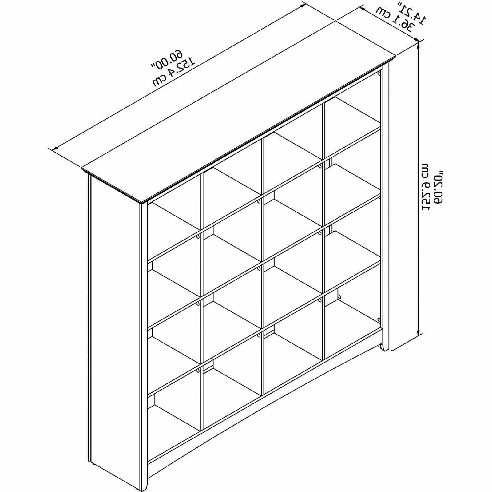 16 Cube Wood Serene Cherry Decor Area Bookcase Furniture