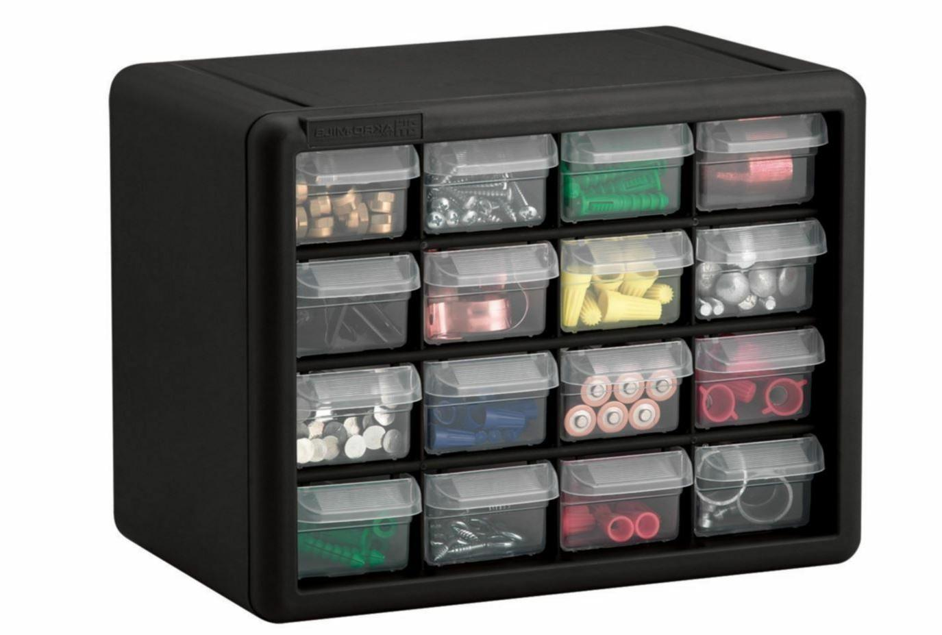 16 Drawer Storage Bin Box
