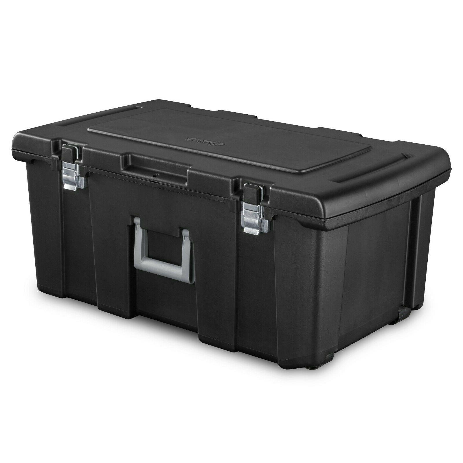 Large Plastic Storage Box Wheeled Container Gear Tote Portab