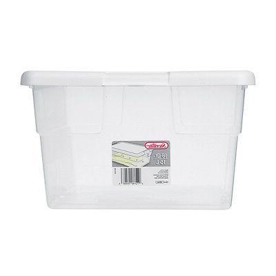 Sterilite 16448012 Clear Stacking Storage Tub,
