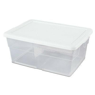 Sterilite Clear Stacking Tub, Pack