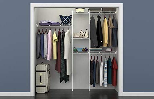 ClosetMaid 1628 Organizer Kit, 5-Foot to 8-Foot, White