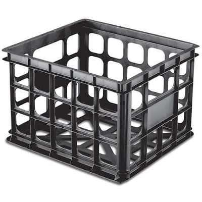 16929006 plastic black storage box crate 6