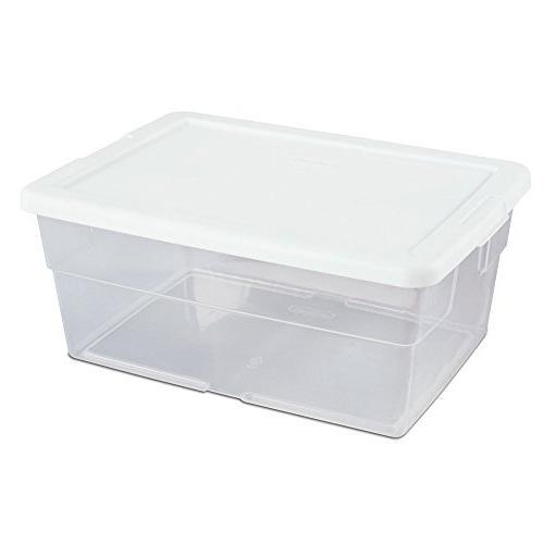 Sterilite #16448012 16QT Box/WHT Lid