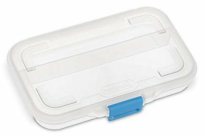 Sterilite 17248612 Divided Box, Clear Blue Case of 12