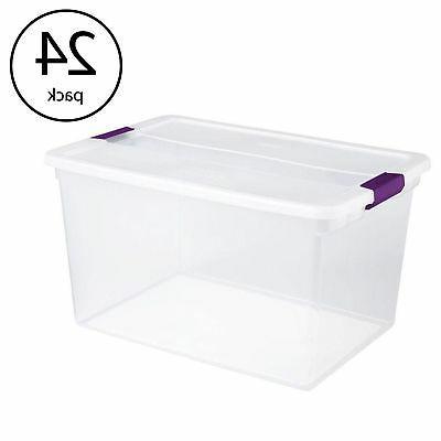 17571706 66 quart clearview latch box storage