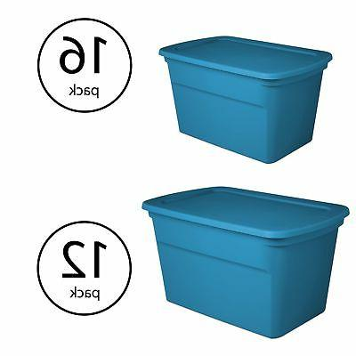 Sterilite 18 Gallon Storage Tote  with 30 Gallon Storage Tot