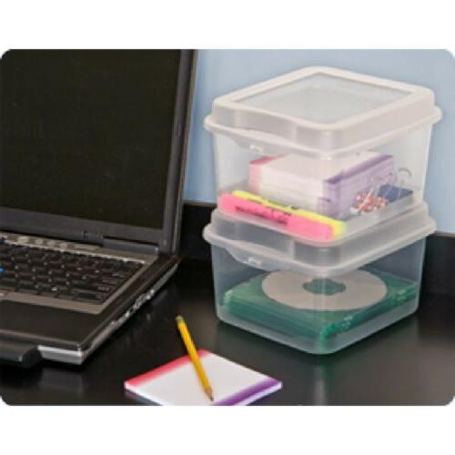 Sterilite 1803 Flip Storage Box Lid Clear,