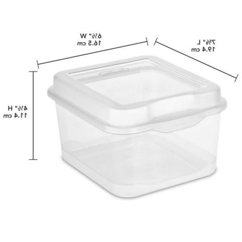 Sterilite Flip Top Storage Container Lid Plastic 6-Pack