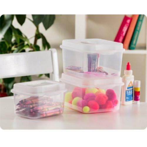 Sterilite 1803 Flip Storage Container Hinged Lid 6-Pack