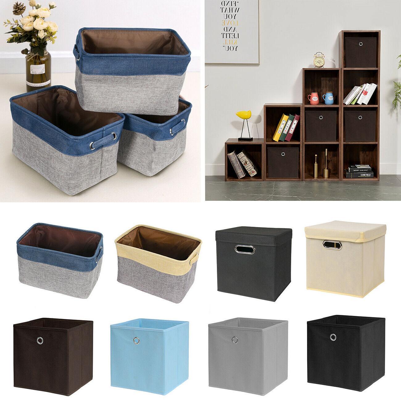 2 10pcs foldable fabric storage cube box