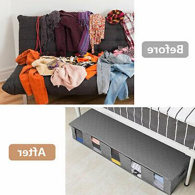 2/1pcs Storage Bag Underbed Non-Woven