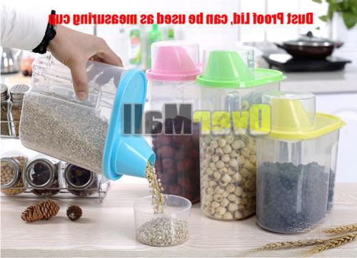 2.5L Plastic Kitchen Cereal Grain Bean Storage Container Case
