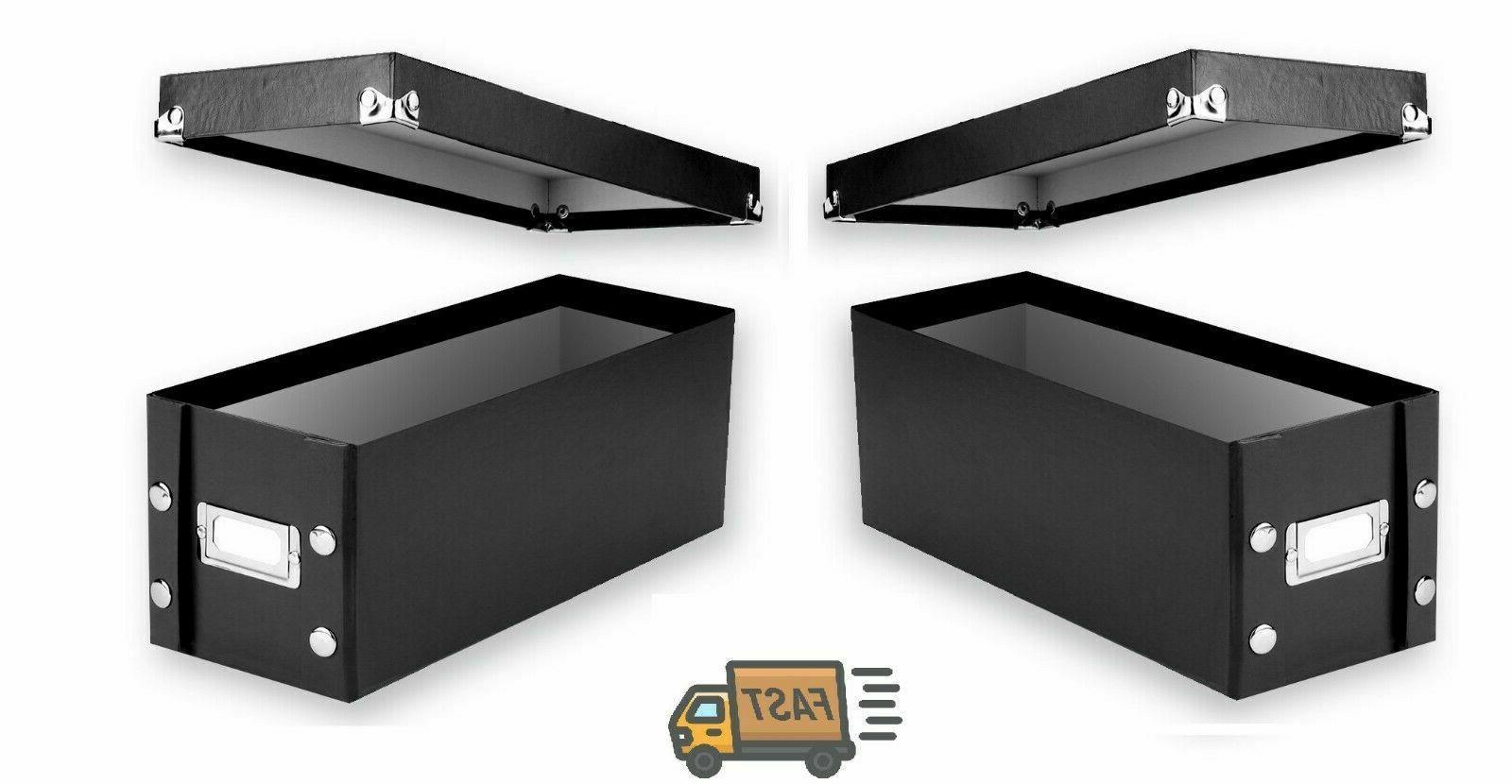2 CD Storage Rack Box Holder Disk Case Media Display Space S