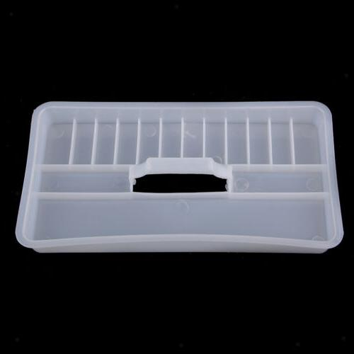 2 Clear Plastic Box Case w for Art Craft Supply,Tool,Sewing kit