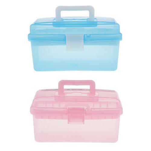 2 Clear Plastic Box Tray kit