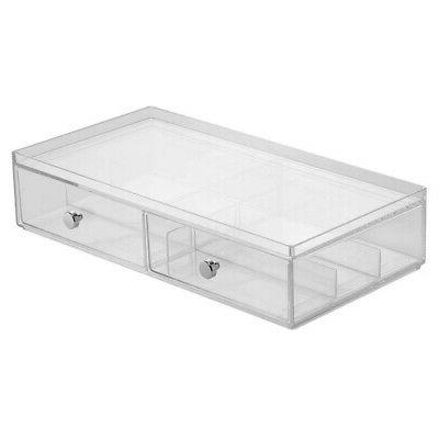 2 drawer wide drawers storage box