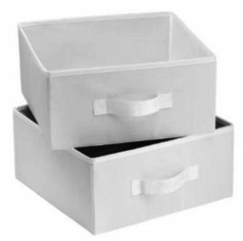 2 pack box drawers clothes storage container