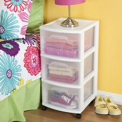2 Drawer Storage Home Organizer Cabinet