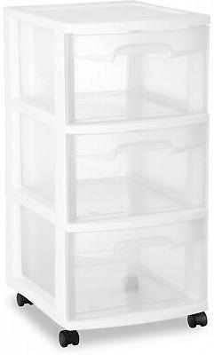 2 Cart Drawer Storage Sterilite Home Cabinet