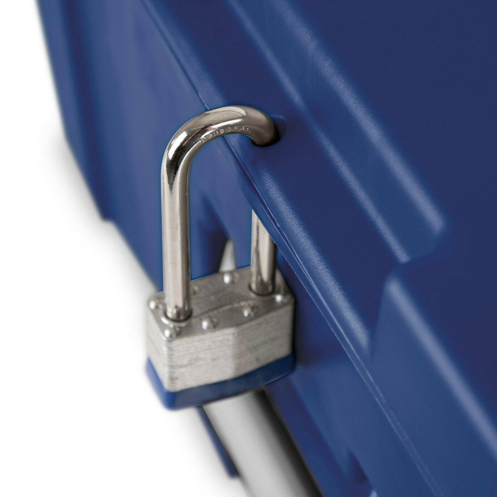 2 Locker Trunk Organizer Wheels Blue NEW