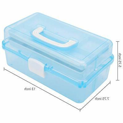 MyGift Blue Multipurpose Storage w/Handle &