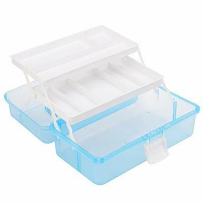 MyGift 2-Tier Blue Plastic Multipurpose &
