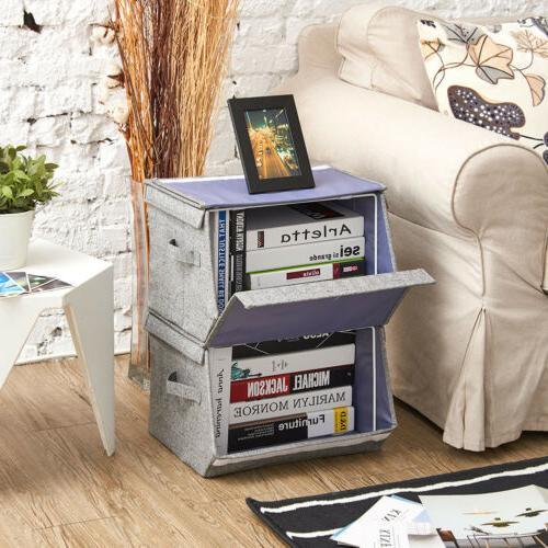 EZOWare 2 tier Stackable Storage Organizer Boxes Basket